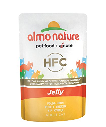 Almo Nature HFC Jelly Huhn Katzennassfutter 24er Pack (24  x 55 g)