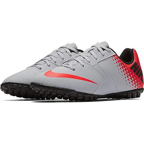 Nike Jr Bomba Tf, Scarpe da Calcetto Indoor Unisex-Bambini, Multicolore (Wolf Grey/Black-Bright Crimson 006), 38 EU
