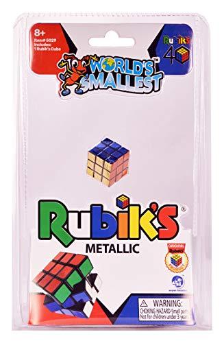Super Impulse World's Smallest 40th Anniversary Rubik's Cube Metallic, Multi