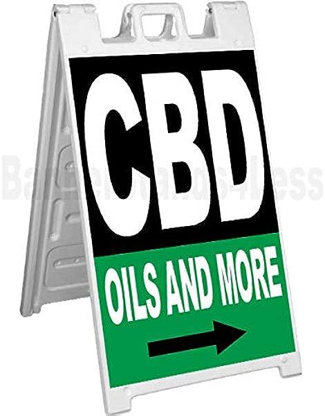 CBD Oils And More Signicade A Frame Sidewalk Sign Pavement Sign Kb