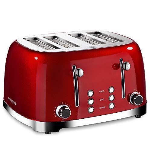 REDMOND 4 Slice Toaster Retro Stainless Steel...