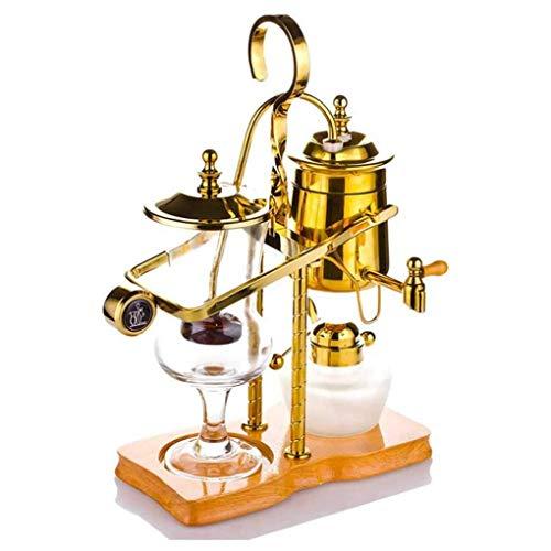 ZHJIUXING ST Siphon Kaffeemaschine, Elegante Königliche Belgische Kaffeekanne Im Retro-Stil, Leicht Zu Reinigen 1-4 Tassen Vakuum-Kaffeemaschine, Kaffeesiphon, Kaffeekanne, Gold