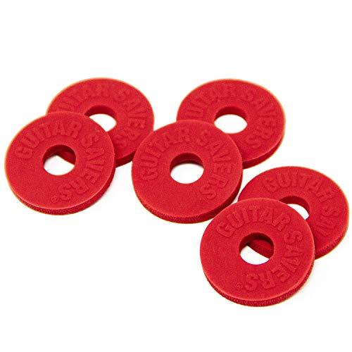 Guitar Savers Premium Strap Locks (3 Pair) - Red