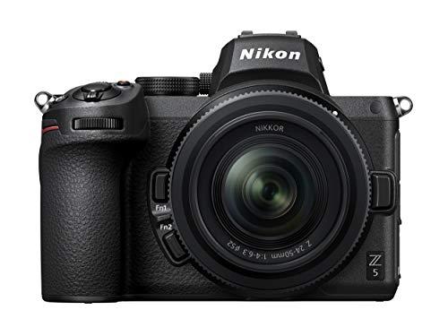 Nikon Z 5 Spiegellose Vollformat-Kamera mit Nikon 24-50mm 1:4,0-6,3 VR (24,3 MP, Hybrid-AF mit 273 MF und Fokus-Assistent, eingeb.5-Achsen-Bildstabilisator, 4K UHD Video, doppeltes Speicherkartenfach)