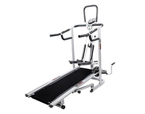 Lifeline 4 in1 Deluxe Manual Treadmill with Twister, Stepper & 3 Level inclination for Home Gym