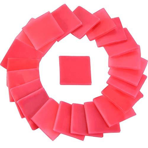 Jovitec 50 Pezzi 2 x 2 cm Colla per Pittura Diamante Fai da Te Punto Croce Argilla Pittorica, Rosso