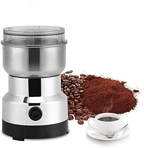 Amazon Brand Multifunktions-Zerkleinerungsmaschine,220 V elektrische Getreidemühle,Kaffeemühle,Klingen aus rostfreiem Stahl,geräuscharme Getreidemühle für/Nüsse/Körner/Kaffeebohnen