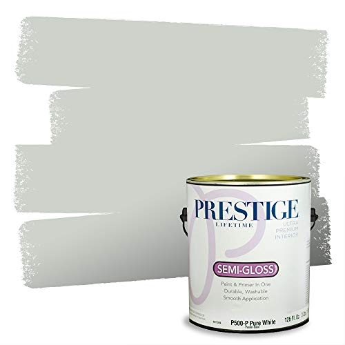 Prestige Paints Interior Paint and Primer In One, 1-Gallon, Semi-Gloss, Comparable Match of Sherwin Williams* Sea Salt*