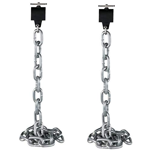 VEVOR Cadenas de Elevación Sólidas para Cuerpo 12 kg Cadenas Levantamiento Pesas Plata 1.6m Ajustable Enlace Cadena Hueco Olímpicos Cadenas de Entrenamiento para los Entrenamientos Múltiples…