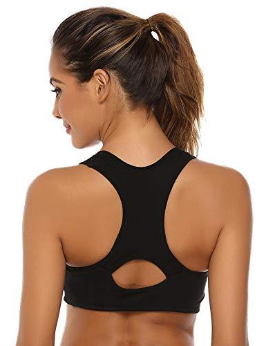 Abollria Sujetador Deportivo para Mujeres, cómodos Suave y Almohadillas Extraíbles,Bra Deporte sin Costuras para Yoga Fitness Run Ejercicio