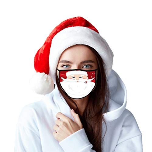 Adult Soft Face Mask, Christ Reindeer SantaClaus ChristmasEv Candy Chimney Print Anti Dust for Adult, Multifunctional