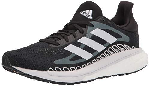 adidas Men's Solar Glide ST Running Shoe, Black/White/Blue Oxide, 10.5