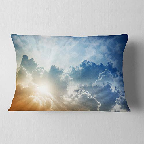 Designart Stunning Blue Sky With Clouds Contemporary Landscape Throw Lumbar Living Room Sofa Pillow Insert Cushion Cover Printed On Both Side 12 In X 20 In Shefinds