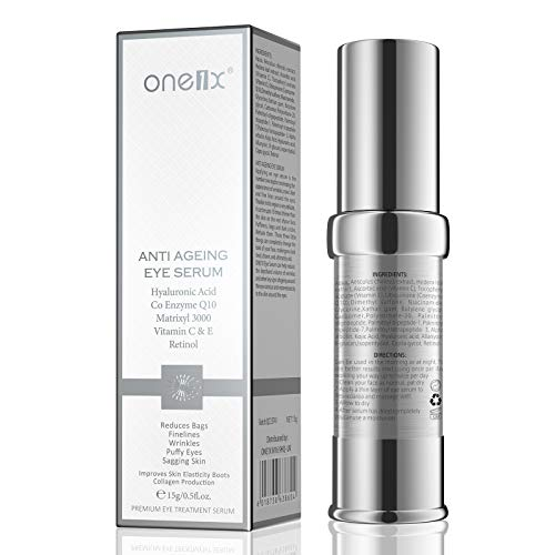 Retinol Eye Cream, Retinol Day- Night anti-ageing Eye Cream with Hyaluronic Acid & Vitamin C& E, Visibly Reduce Wrinkles, Puffiness, Fine Lines, Dark Circles