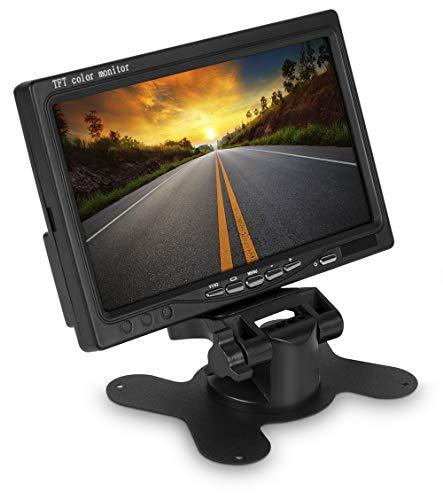 TFT LCD Digital Video Monitor Stand zuignap zuignap voor auto auto auto achteruitrijcamera met twee video-ingangen 12V zwart