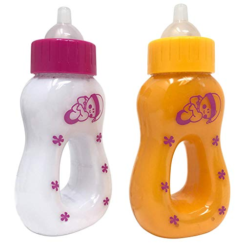 The New York Doll Collection Magic Juice & Milk Bottle Set for Baby Dolls