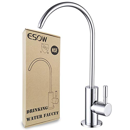 Buy ESOW Kitchen Water Filter Faucet, 100% Lead-Free Drinking Water Faucet Fits most Reverse Osmosis...