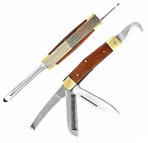 3680 Cuchillo Laguiole rústico hecho a mano en estilo clásico herramienta multiusos...