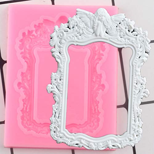 LNOFG Frame Lace Silicone Mold Cake Border Fudge Mold Diy Cake Decoration Tool Candy Clay Chocolate Mold