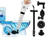 AeKeatDa High Efficient Toilet Plunger High Pressure Air Drain Blaster, Pressure Pump Cleaner for Bath Toilets, Bathroom, Shower, Sink, Bathtub, Kitchen Clogged Pipe