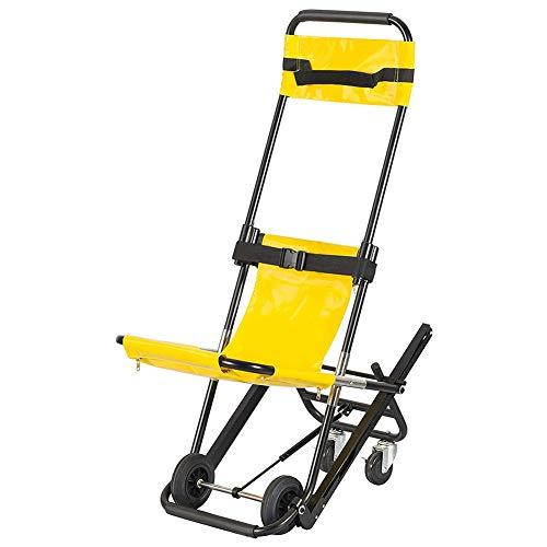 GzxLaY Treppenstuhl, tragbarer Faltbarer Treppenbahre Medical Lift Treppenstuhl, Krankenwagen Feuerwehrmann Evakuierung Medical Lift Treppenstuhl, für ältere Menschen, Behinderte