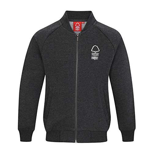 Nottingham Forest FC - Jungen College-Jacke im Retro-Design - offizielles Merchandise Fußballfans - Dunkelgrau - 10-11 Jahre