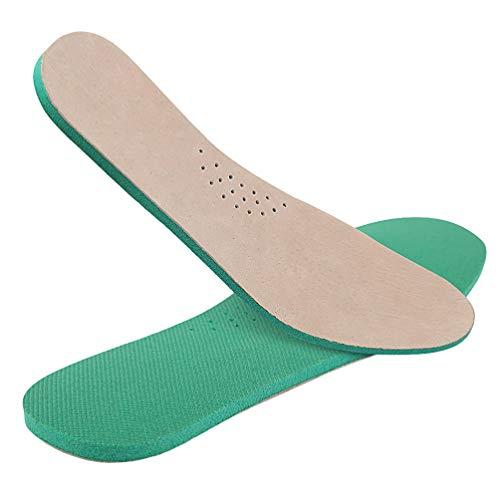 Supvox 1 Paar Einlegesohlen aus Schweinsleder Schweiß absorbierend atmungsaktiv dämpfende Schuheinlagen für Erwachsene (43-44)