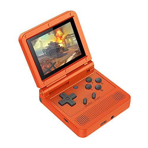 Handheld Game Console, Rechargeable Retro Game Player Built in 3000 Games, 3-inch IPS Screen V90 Mini Game Console, for Girls and Boys (Red)