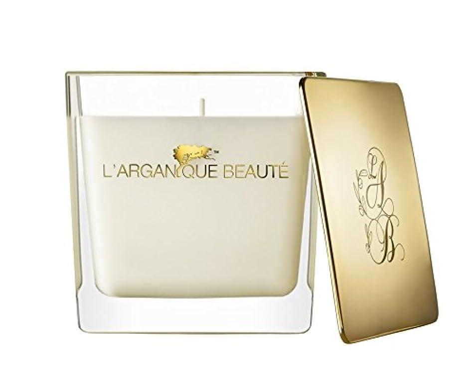 プラカード気候巨大L 'arganique Beaute Luxury Scented Candle、Perfumed香りSpa Candle?–?Made w/100?%大豆ワックス、鉛フリーWick、純粋なモロッコアルガンオイルEssence?–?For Baths、クリスマス、休日、 14.1oz