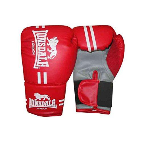Lonsdale Contender Boxhandschuhe mit Handbandagen fürs Kickboxen, MMA und Kampftraining S rot