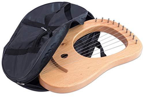 Betzold Musik 5192 - Lyra-Harfe klein, Hartholz 45 cm, 10 Saiten, stimmbar - qualitativ hochwertig, schöner Klang