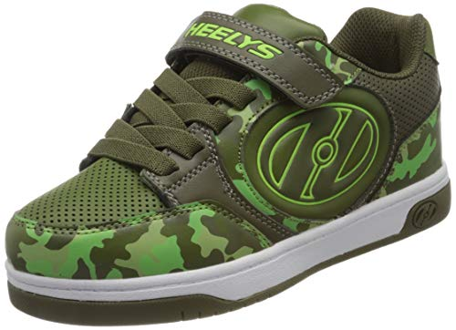 Heelys Unisex-Kinder Plus X2 (he100720) Leichtathletik-Schuh, Dark Green/Camo, 30 EU