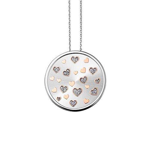 Julie Julsen Damen Silberkette mit Anhänger Herzen Silber - Amore JJNE0503.1