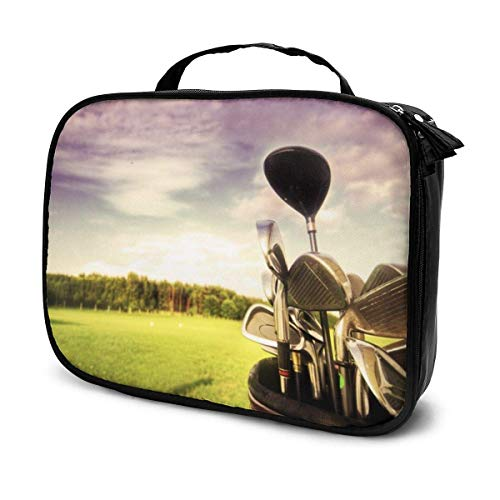 Golfschläger und Golfbälle, Reise-Make-up-Tasche, Organizer, große Kapazität, tragbar, abnehmbare Trennwände, Make-up, Zug, Aufbewahrung, Mehrzweck-Tasche, Geschenk für Mädchen und Frauen