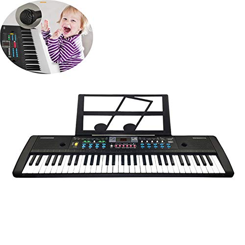 Best Price Multifunctional Portable 61-Key Electronic Keyboard Piano with Power Supply Microphone, R...