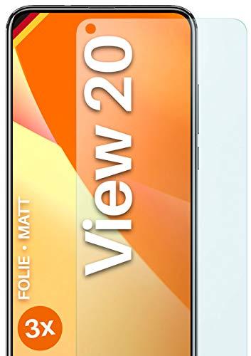 moex Schutzfolie matt kompatibel mit Huawei Honor View 20 - Folie gegen Reflexionen, Anti Reflex Bildschirmschutz, Matte Bildschirmfolie - 3X Stück