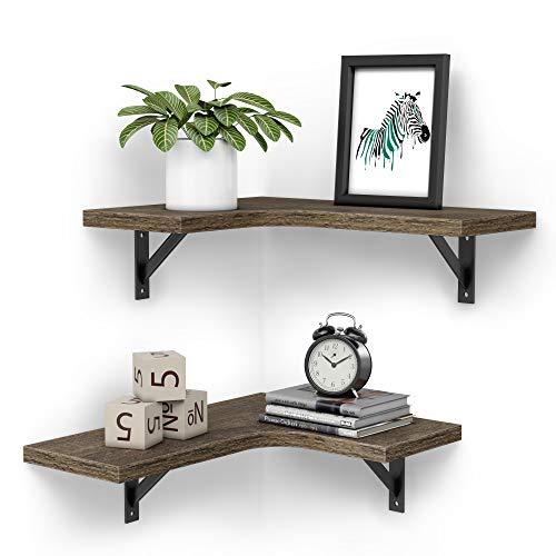 Convenience Concepts Xtra Storage 3 Tier Corner Folding Metal Corner Shelf, Black