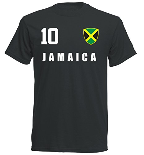 Jamaika WM 2018 T-Shirt Trikot - schwarz ALL-10 - S M L XL XXL (L)