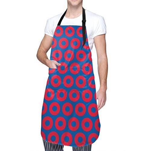ULQUIEOR - Delantal de chef con bolsillos impermeable ajustable para cocina, barbacoa, dibujo, cocina