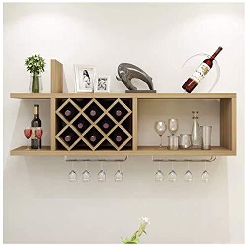 Mueble de Vino montado en la Pared Estante de Vino Estante de Pared Diamante Vino Grid Restaurante Colgando Mueble de Pared Mueble de Vino Blanco Yellow