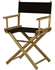 46cm Director's Chair Natural Frame-Black Canvas