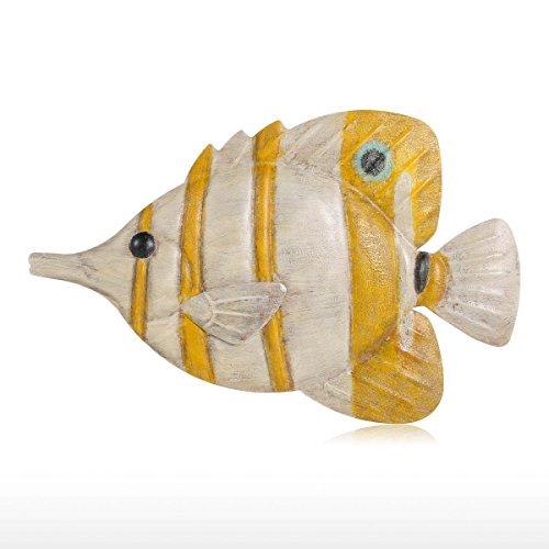 Tooarts Muro di Pesce Appendere 2 Parete di Ferro Decorazione Creativo Ornamento Artigianale Muro di Parete Muro Appeso Vita Marina