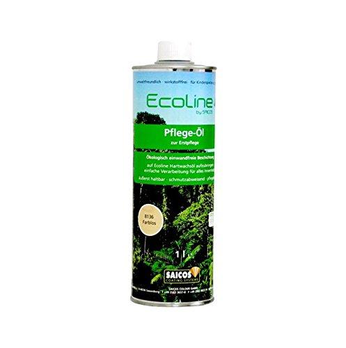 Bembé Ecoline Pflegeöl für geöltes Parkett zur Erstpflege + Auffrischung von Holz 1 Liter
