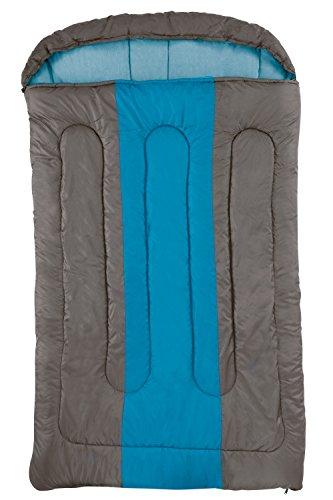 Coleman Schlafsack Hudson Double, XXL Deckenschlafsack Camping, leichter Sommerschlafsack für 2 Personen, Outdoor und Indoor nutzbar, Komforttemperatur +7° C, 235 x 150 cm