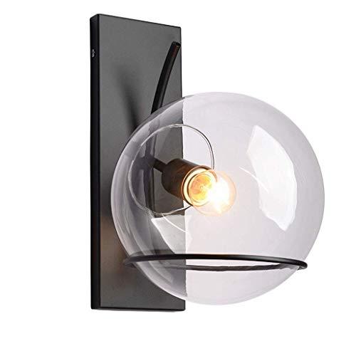 WY-YAN Lámpara de la mesita de Hierro de Hierro del balcón de Pared lámpara de Luces de Escalera Simple Pasarela