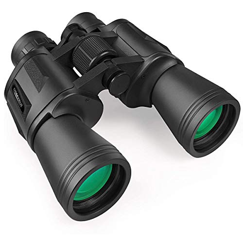 20x50 Hunting Binoculars for Adults and Kids, Compact HD Daily Waterproof Best Binoculars, Low Light Night Vision Binoculars for Bird Watching Hunting Football-BAK4 Prism FMC Lens-with Case and Strap