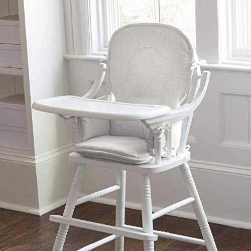 Best Buy! Carousel Designs Ivory Linen High Chair Pad