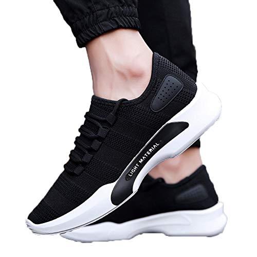 XJWDNX Lettres d'été Chaussures de Sport pour Hommes Chaussures de Course en Plein air Maille Baskets de Plein air Jogging Couture Respirant Loisirs
