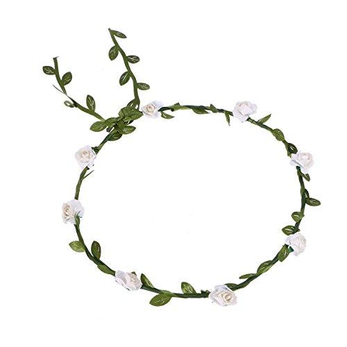 OUNONA Blumen Stirnbänder Kranz Hochzeit Blumenkrone Haarband mit Elastischem Band für Frauen Mädchen