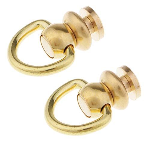 IPOTCH 2stk Leder Handwerk Schraubnieten Ringkloben mit Ringschraube Nieten Knopfbolzen